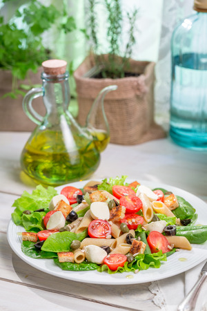 lite food: Healthy salad with fresh vegetables