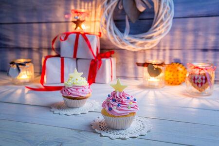 Small dessert for Christmas photo