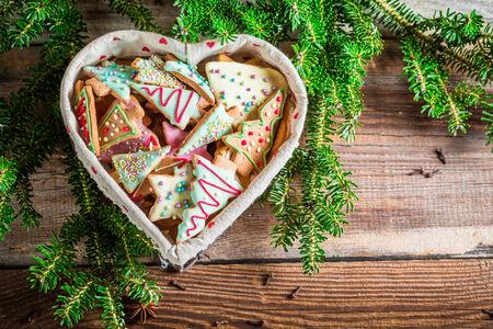 weihnachtskuchen: Lebkuchen f�r Weihnachten im Herzen