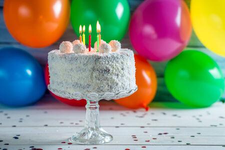 Enjoy your coconut birthday cake photo
