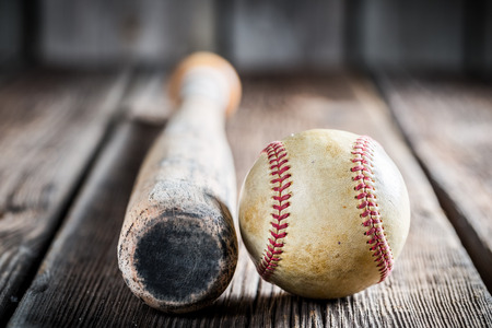 baseball: Baseball bat and ball