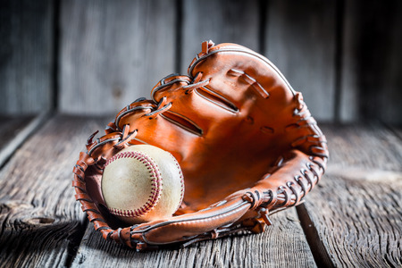 baseball bat: Age Baseball glove and ball