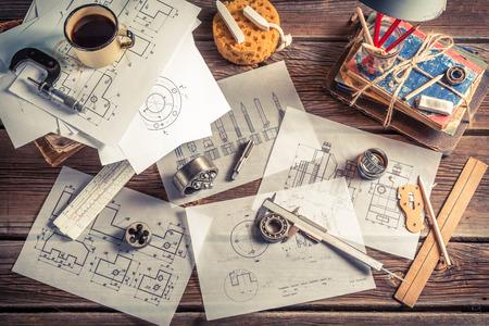 mechanical engineer: Vintage mechanical engineer desk