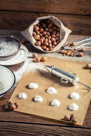 preparations: Preparations for making homemade macaroons