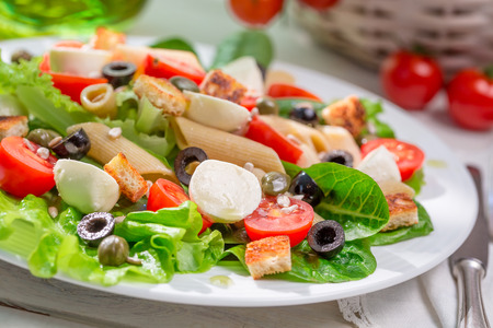 lite food: Enjoy your spring salad Stock Photo