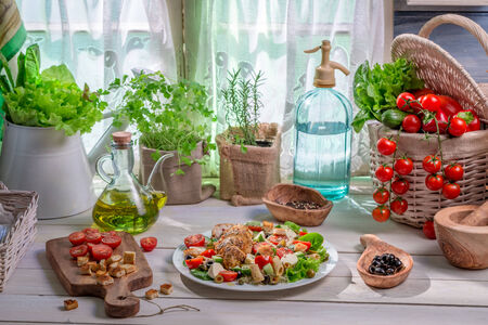 lite food: Healthy food prepared in the spring kitchen