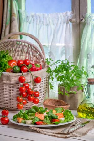 lite food: Spring kitchen full of fresh vegetables