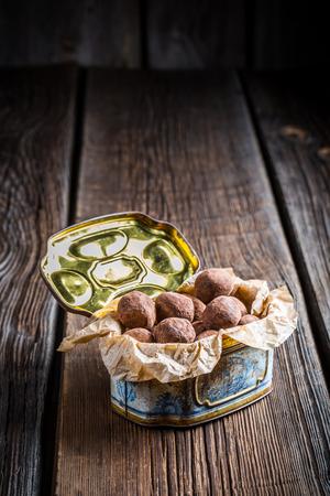 chocolate balls: Homemade chocolate balls Stock Photo
