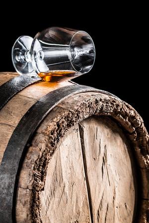 Old cognac tasting in the cellar photo