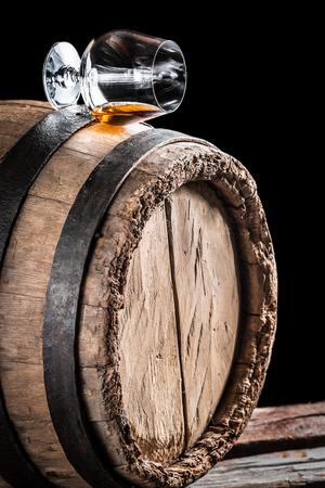oak barrel: Old cognac matured in oak barrel