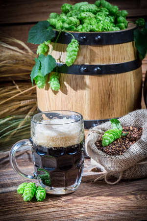 dark beer: Homemade dark beer