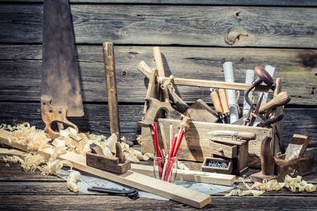 carpenter tools: Old carpenter working tools