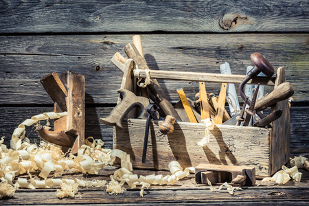 Place of carpenters work Stock Photo