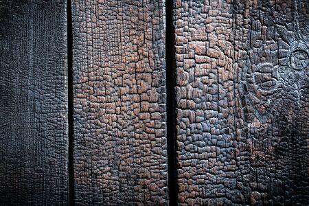 Close-up van verbrande houten achtergrond Stockfoto - 37305797