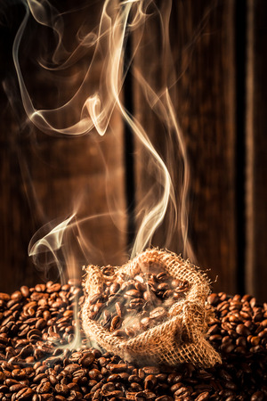 attar: Coffee bag full of roasted grains