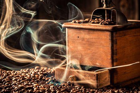 Attar: roasted coffee grains Stock Photo