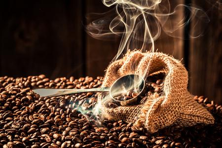 Attar: Coffee bag full of coffee seeds