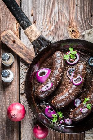 Tasty Blutwurst mit Petersilie und Zwiebel