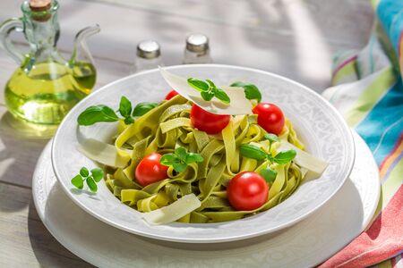 Parmesan: Delicious tagliatelle with parmesan