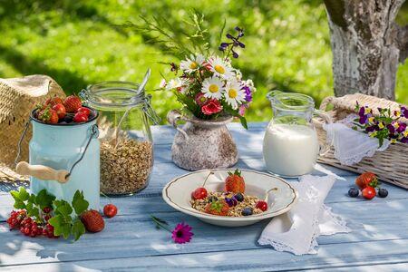 breakfast garden: Summer breakfast in the garden