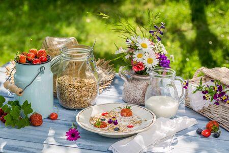 breakfast garden: Countryside breakfast in the garden