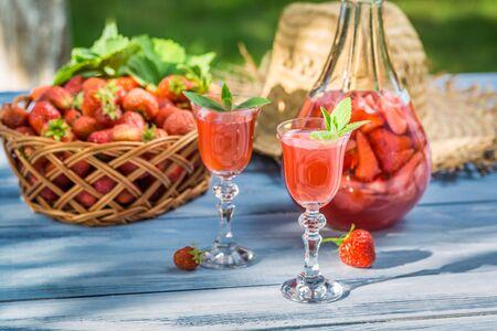 liqueur: Homemade strawberry liqueur