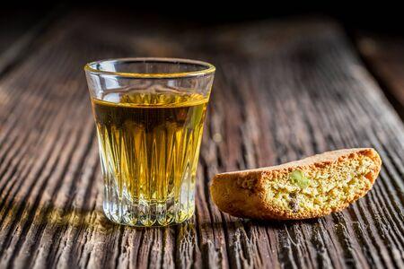 vin: Crispy cantuccini with Vin Santo Stock Photo