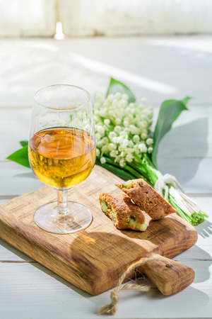 vin: Sweet cantuccini with Vin Santo Stock Photo