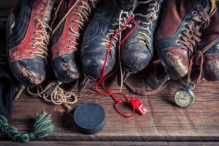 hockey skates: Old ice hockey skates