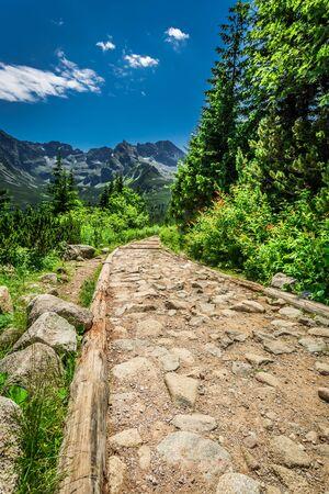 tatras: Stony mountains trail in Tatras