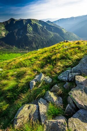 tatra: Wonderful sunset in the Tatra Mountains in summer
