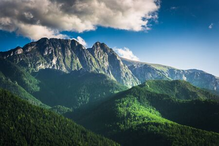 summer nature: Sunset in the Tatra Mountains in summer Stock Photo
