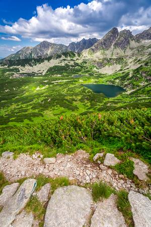 tatras: Narrow mountains trail in Tatras