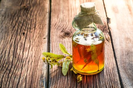 tincture: Healing tincture with herbs and alcohol