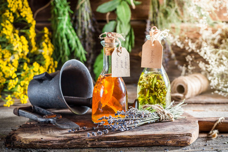 witchdoctor: Homemade herbs in bottles as an alternative cure