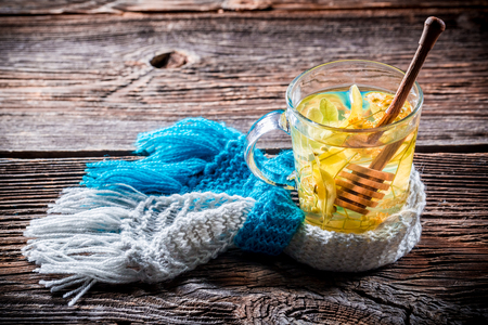 evenings: Warming linden tea for cold evenings