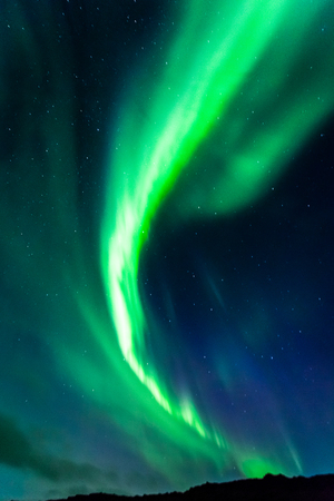 northern light: Northern lights in Iceland