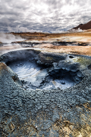 geothermal: Volcanic geothermal area in Iceland
