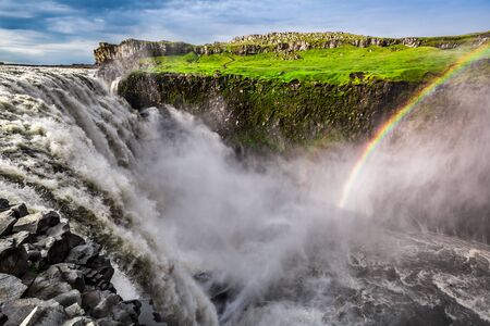 amazing stunning: Stunning Dettifoss waterfall in Iceland