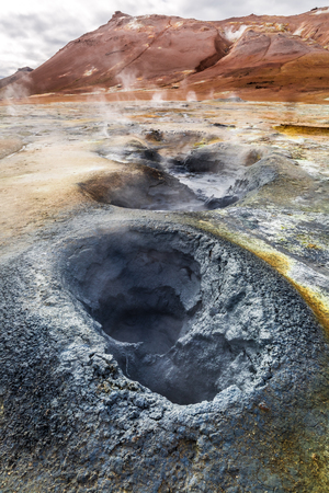 fumarole: Stunning geothermal area in Iceland Stock Photo