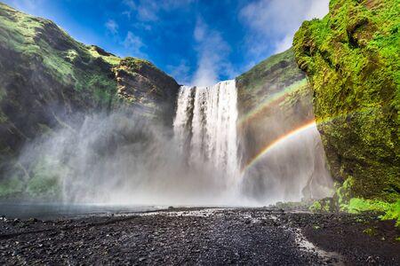 skogafoss waterfall: Wonderful Skogafoss waterfall in Iceland