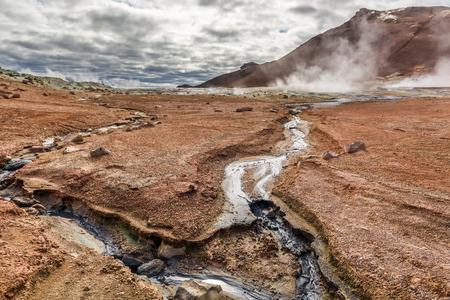 fumarole: Breathtaking Namafjall terrain in Iceland