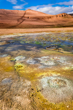 volcanism: Geothermal area in Iceland Stock Photo