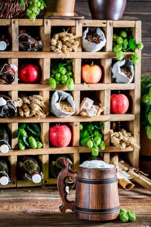 cider: Fresh cider beer and ingredients