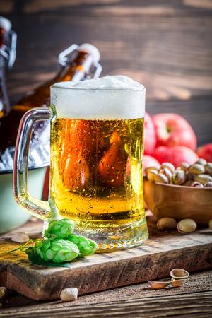 cider: Cold and fresh cider beer