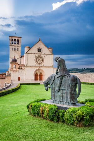 assisi: Famous architecture in Assisi, Umbria, Italy