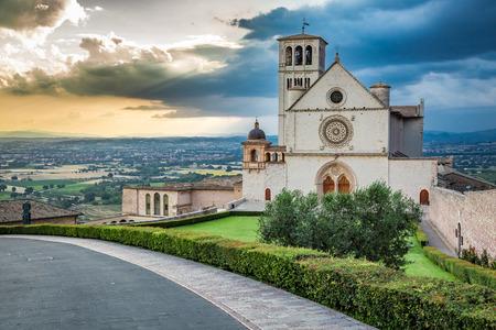 assisi: Beautiful basilica in Assisi, Umbria, Italy