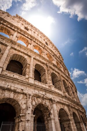 colosseum: Great Colosseum in Rome Stock Photo