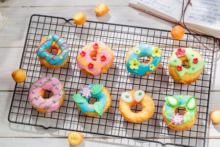 donuts: Glazed tasty donuts