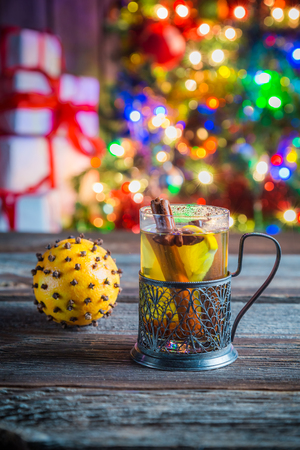 tea and biscuits: Tasty and sweet tea and gingerbread cookies for Christmas